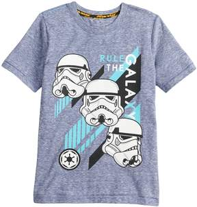 Star Wars A Collection For Kohls Boys 4-7x a Collection for Kohl's Rule the galaxy Storm Trooper Tee