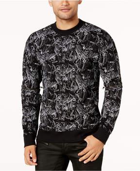 GUESS Men's Skull & Pin Sweater
