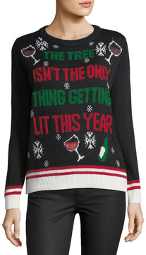 Chelsea & Theodore Lit Tree Holiday Sweater
