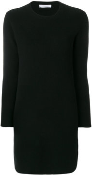 Cruciani ribbed fitted dress