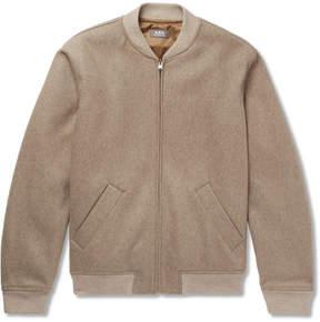 A.P.C. Gaston Wool-Blend Felt Bomber Jacket