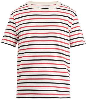 Maison Margiela Set of three striped cotton-jersey T-shirts
