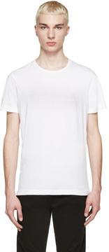 Pierre Balmain White Embroidered Logo T-Shirt