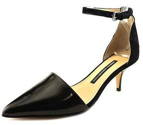 French Connection Womens Enora Leather Pointed Toe Ankle Strap Classic Pumps.