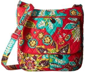 Vera Bradley Double Zip Mailbag Cross Body Handbags - CHARCOAL - STYLE