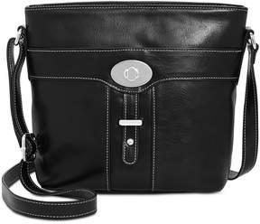 Giani Bernini Glazed Turn-Lock Bucket Bag