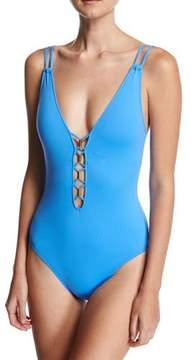 LaBlanca La Blanca Vision Quest Cross-Back One-Piece Swimsuit, Blue