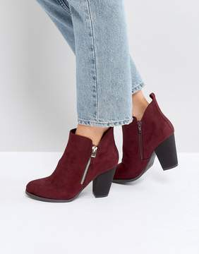 Call it SPRING Kokes Burgundy Heeled Ankle Boots