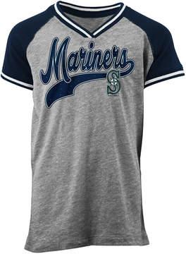 5th & Ocean Seattle Mariners Rhinestone Script T-Shirt, Girls (4-16)