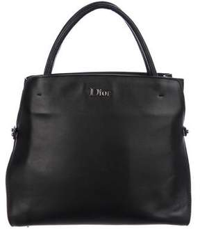 Christian Dior Leather Bar Logo Tote