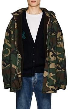 Yeezy Men's Camouflage Oversized Insulated Cotton Coat