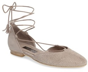 Gabor Women's Studded Lace-Up Flat