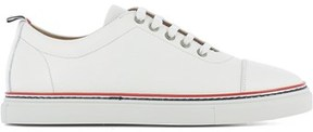 Thom Browne Men's White Leather Sneakers.