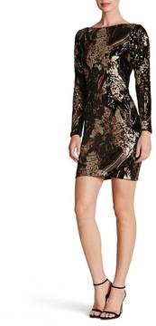 Dress the Population Women's Lola Sequin Velvet Body-Con Dress