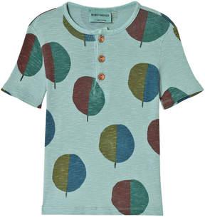 Bobo Choses Beryl Green Forest Buttons T-Shirt