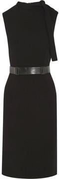 Bottega Veneta Belted Crepe Dress - Black