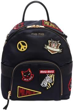Miu Miu Satin Backpack W/ Patches