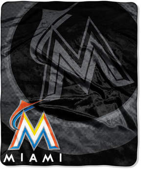 Northwest Company Miami Marlins Plush Drop Down Throw Blanket