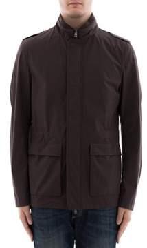 Herno Men's Brown Polyamide Outerwear Jacket.