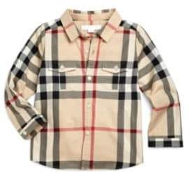 Burberry Toddler's Woven Check Shirt
