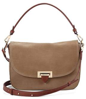 Aspinal of London | Slouchy Saddle Bag In Fog Nubuck Smooth Tan | Fog nubuck smooth tan