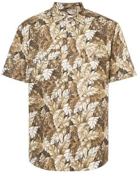 Julien David leaf print shirt