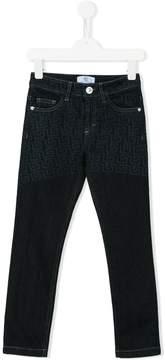 Versace signature print jeans