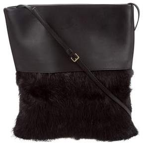 Marni Beaver & Leather Shoulder Bag