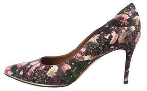 Givenchy Leather Floral Pumps
