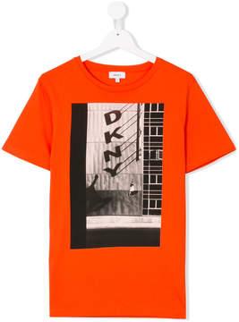 DKNY TEEN logo skate print T-shirt