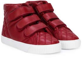 Burberry quilted hi-top sneaker