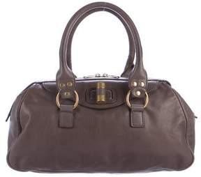 Saint Laurent Leather Handle Bag - GREY - STYLE