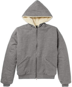 Fear Of God Faux Shearling-Lined Cotton-Blend Jersey Zip-Up Hoodie