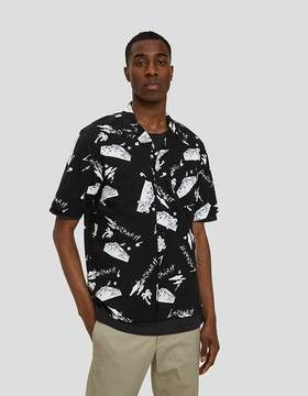 Carhartt Wip S/S Anderson Solid Shirt in Anderson Solid Print / Black