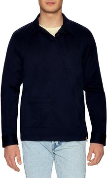 Gant Men's Satin Twill Asymmetrical Zip Sportshirt
