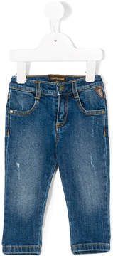 Roberto Cavalli distressed effect jeans
