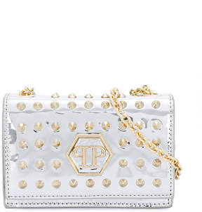 Philipp Plein Junior metallic studded shoudler bag