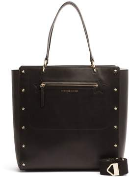 Tommy Hilfiger Leather Star-Studded Tote