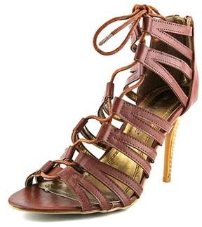 Rampage Womens Katapa Leather Open Toe Special Occasion Slide Sandals.