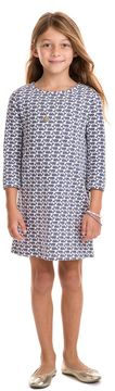 Vineyard Vines Girls Etched Whale Knit Dress