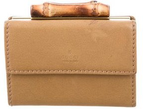 Gucci Bamboo Compact Wallet - NEUTRALS - STYLE