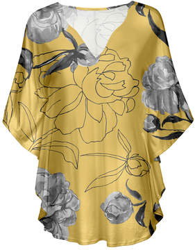 Lily Cream & White Floral Outline V-Neck Tunic - Women & Plus