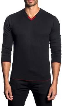 Jared Lang Men's Ribbed V-Neck Sweater
