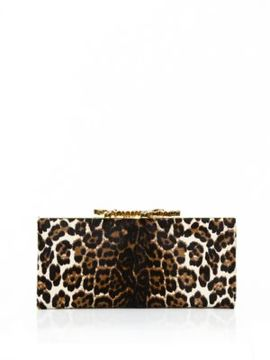 Jimmy Choo Celeste Leopard-Print Pony Hair Clutch