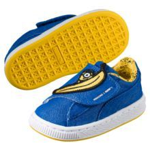 Puma Minions Basket Wrap Statement Denim Kids Sneakers