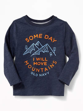 Old Navy Slub-Knit Logo Graphic Tee for Toddler Boys