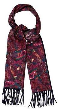 Ermenegildo Zegna Cashmere & Silk Printed Scarf
