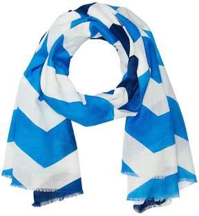 Echo Ombre Chevron Cotton Wrap Scarves