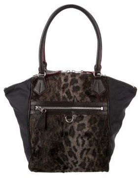 MZ Wallace Faux Fur-Accented Nylon Tote