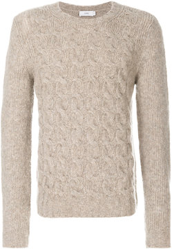 Closed cable knit sweater